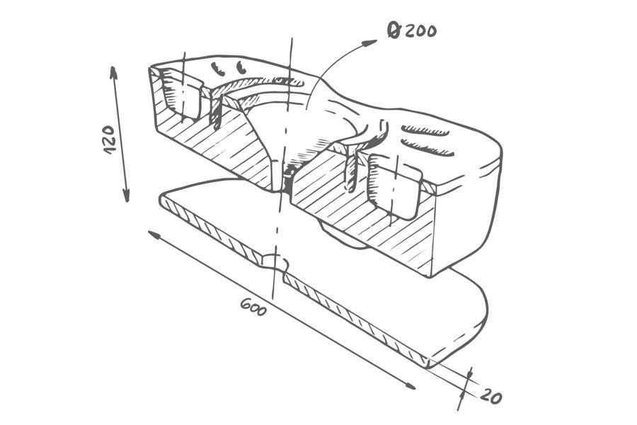 Cervical pillow Sun: designed for maximum comfort