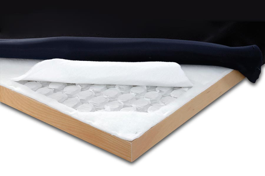 Layers of the spring bed base BoxSpring Light by Manifattura Falomo